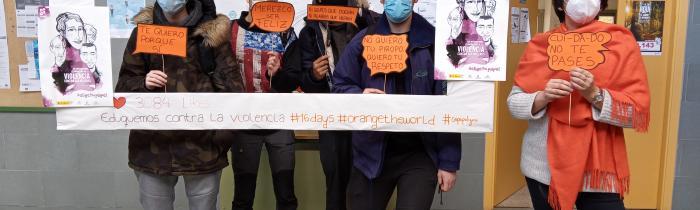 Alumnos del módulo II de ESPA participan en el Día Internacional de la Eliminación de la Violencia de Género