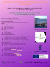 Enseñanzas para el curso 2021-2022