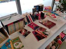 Algunos de los ejemplares del mercadillo de libros de segunda mano