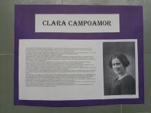Uno de los carteles que forma parte de la exposición de mujeres imprescindibles