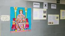 Exposición de la obra jurídica, científica y literaria de Alfonso X en el hall del CEPA Polígono