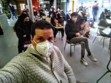 Ricardo, profesor del Ámbito Social, y uno de los organizadores de este emotivo acto