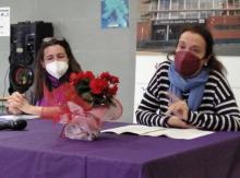Las protagonistas, Clara Campoamor y Victoria Kent, representadas por nuestras profesoras Clara y Ruth